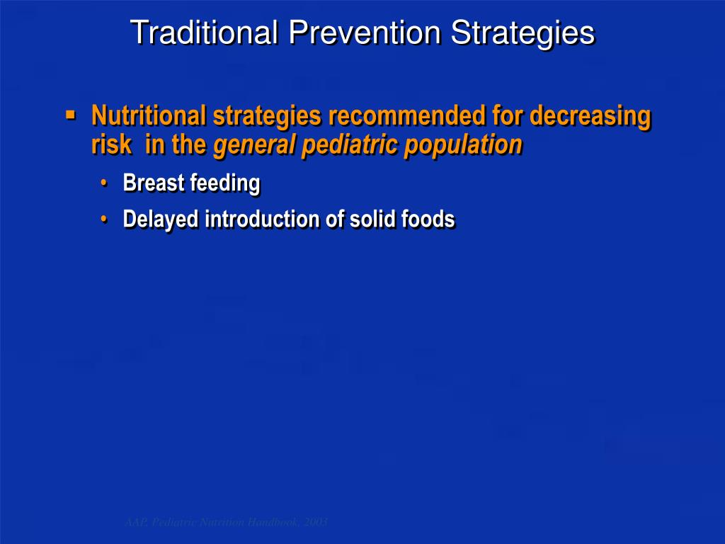 Traditional Prevention Strategies