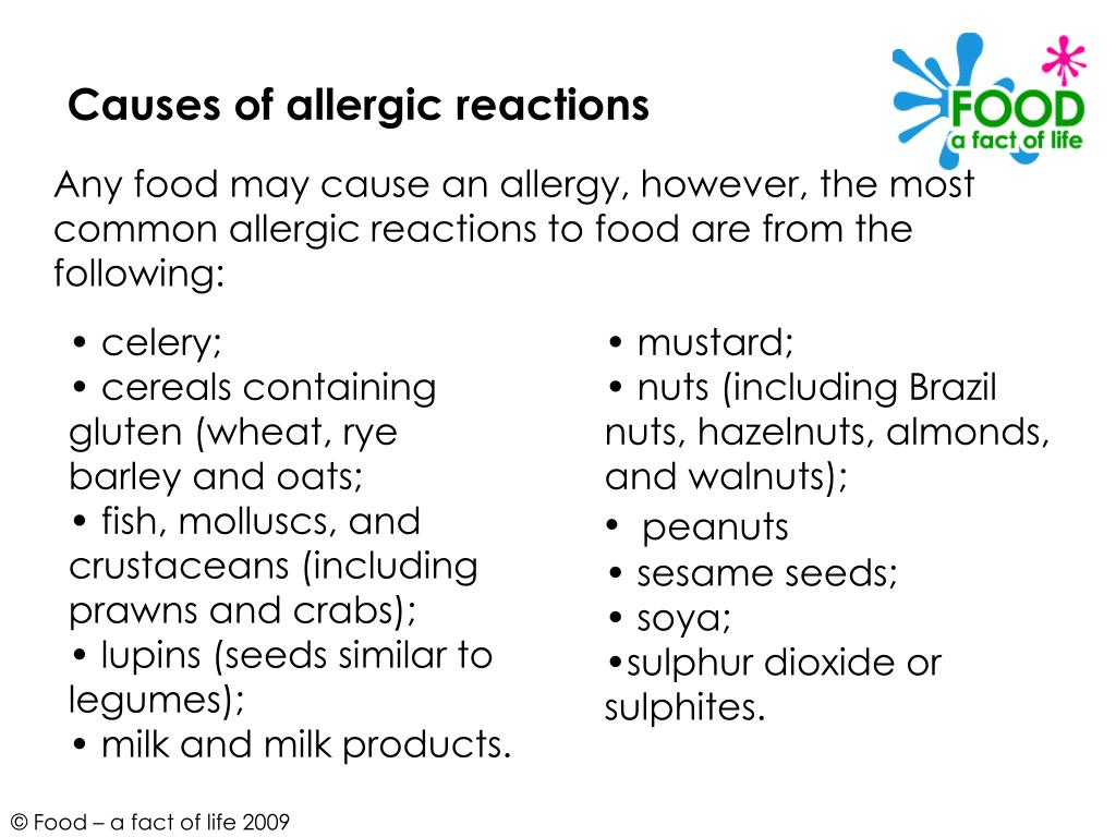 Causes of allergic reactions