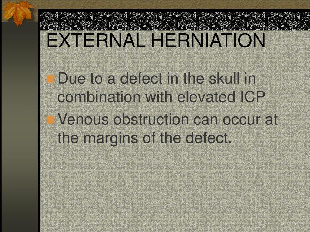 EXTERNAL HERNIATION