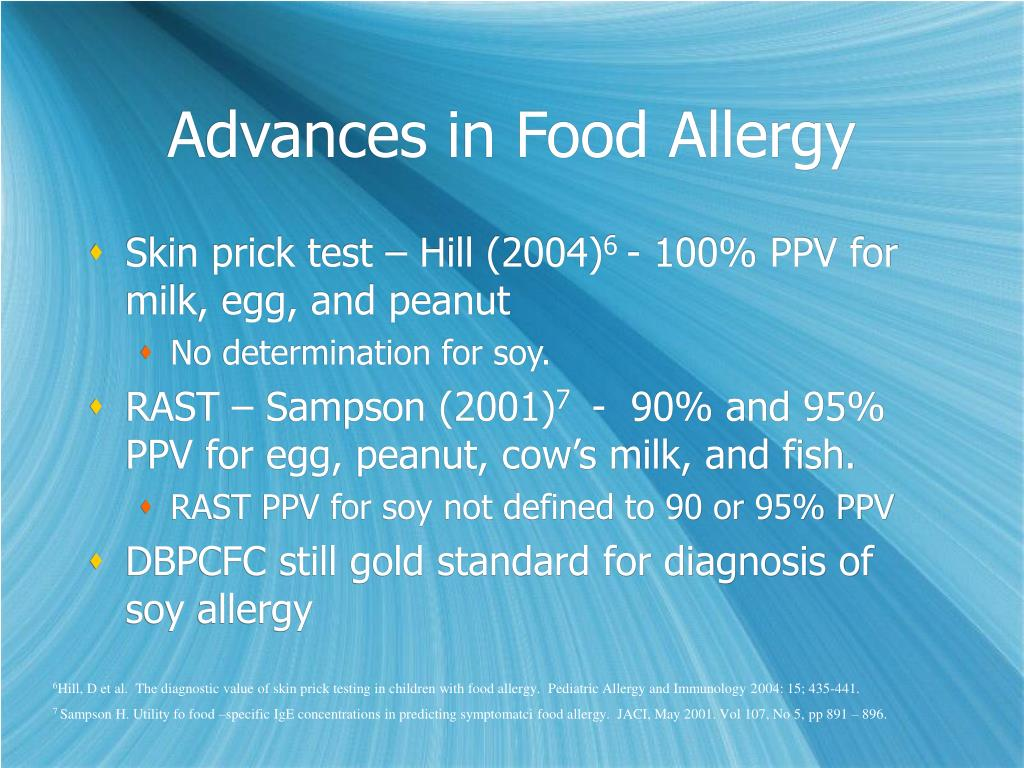 Advances in Food Allergy