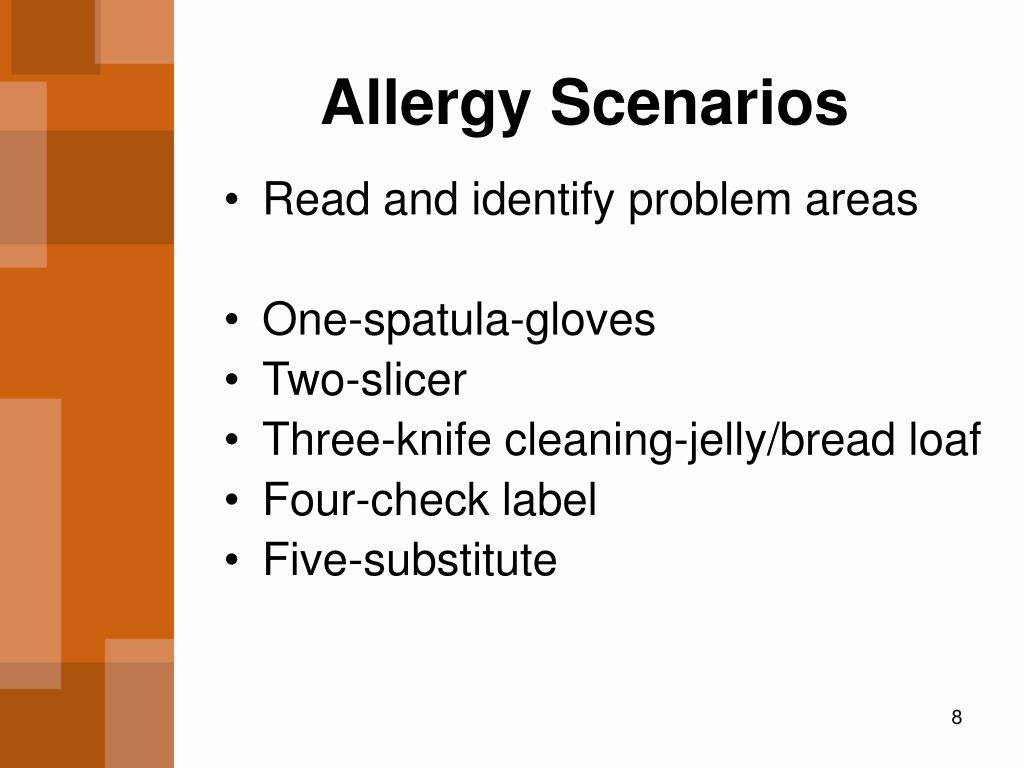 Allergy Scenarios