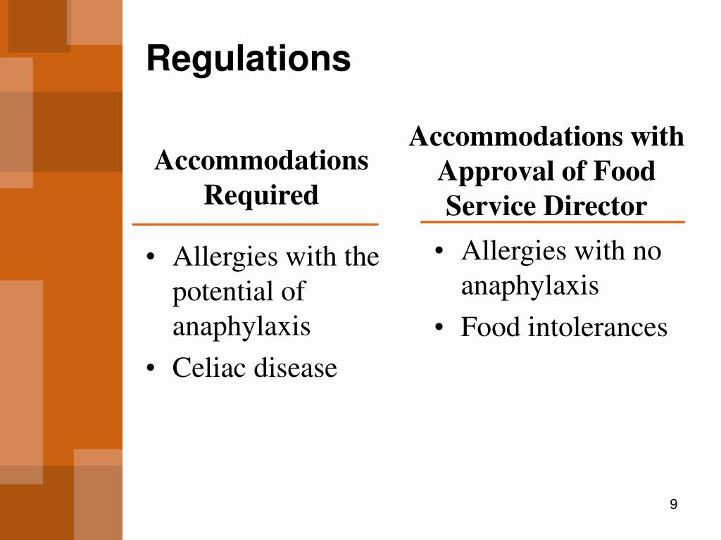 Allergies with the potential of anaphylaxis