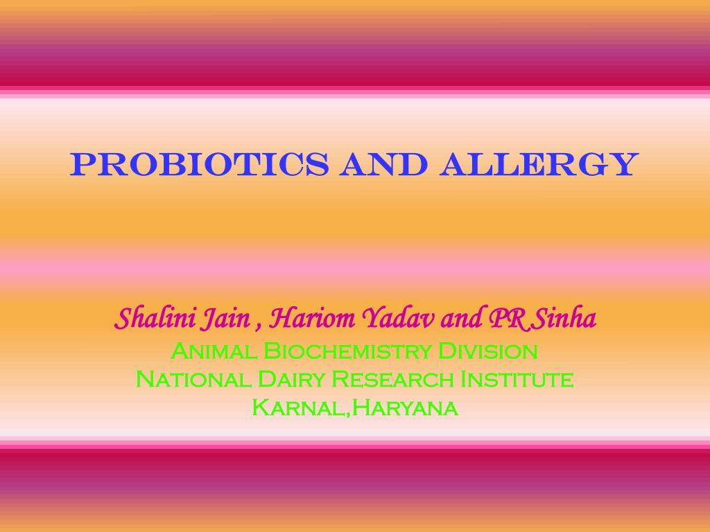 probiotics and allergy
