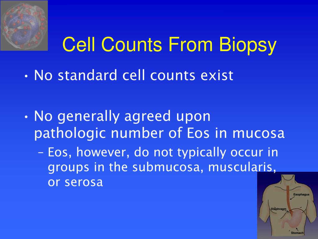 Cell Counts From Biopsy