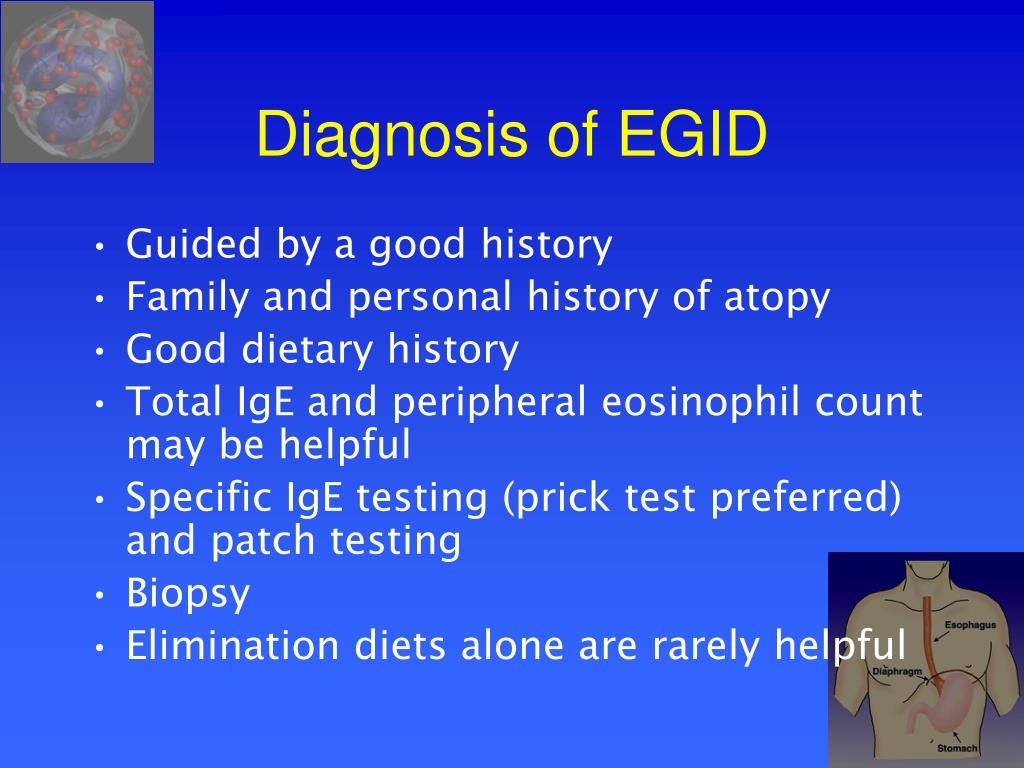 Diagnosis of EGID