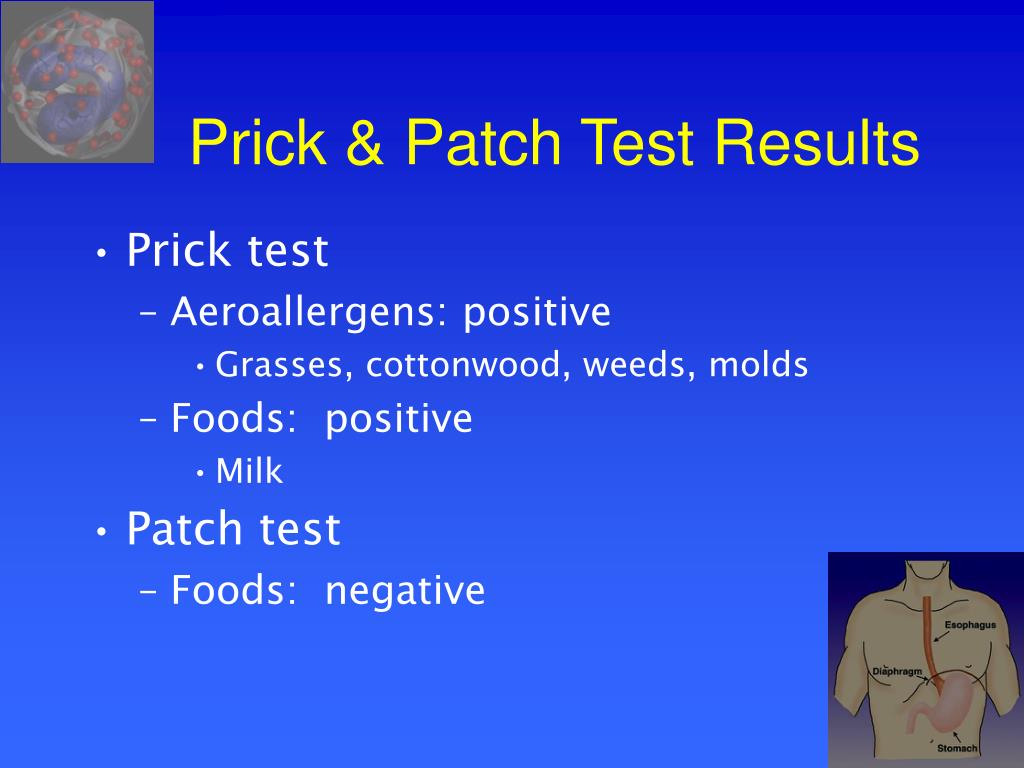 Prick & Patch Test Results