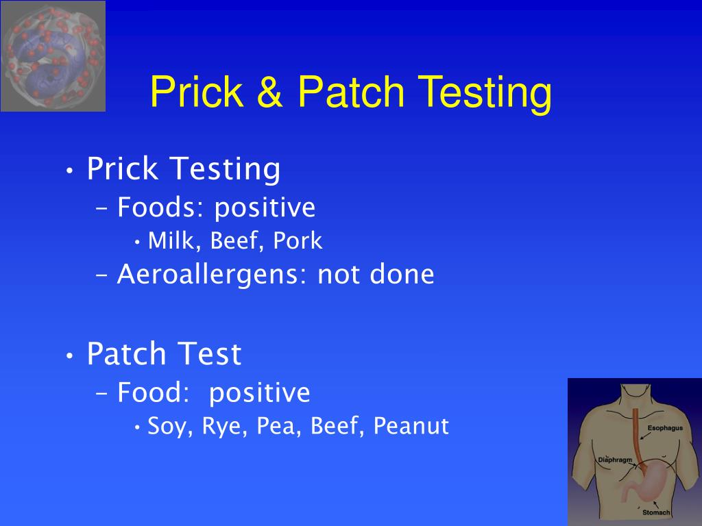 Prick & Patch Testing