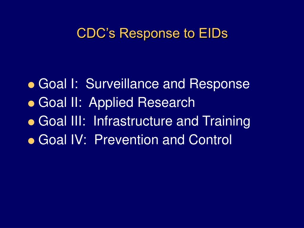 CDC's Response to EIDs