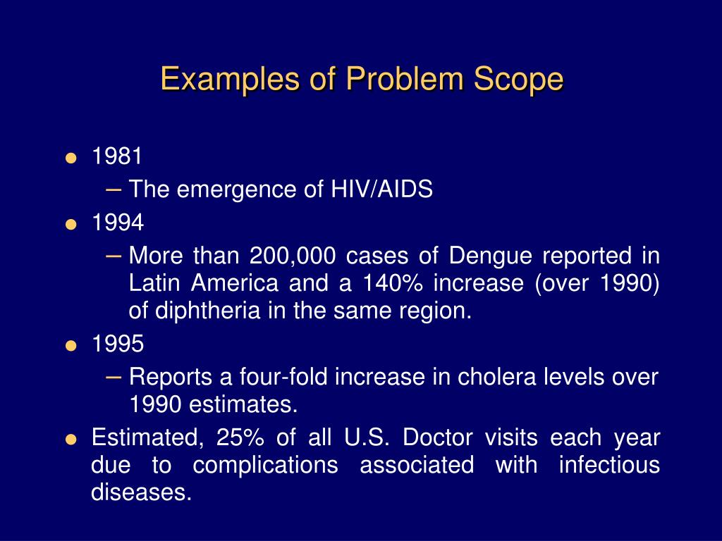 Examples of Problem Scope