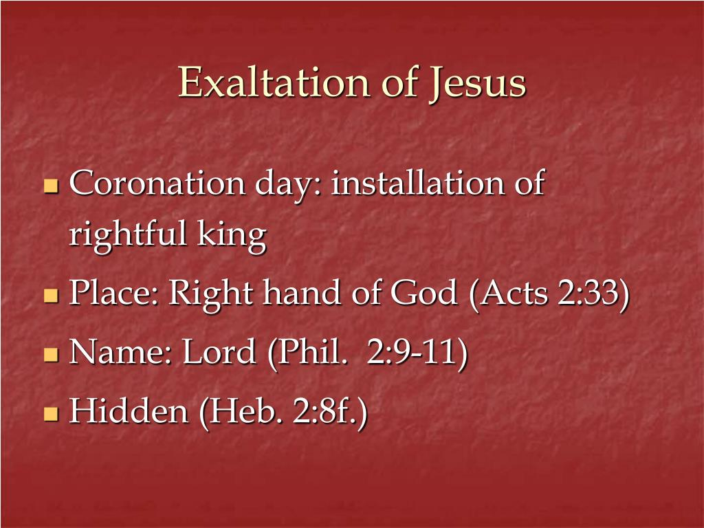 Exaltation of Jesus