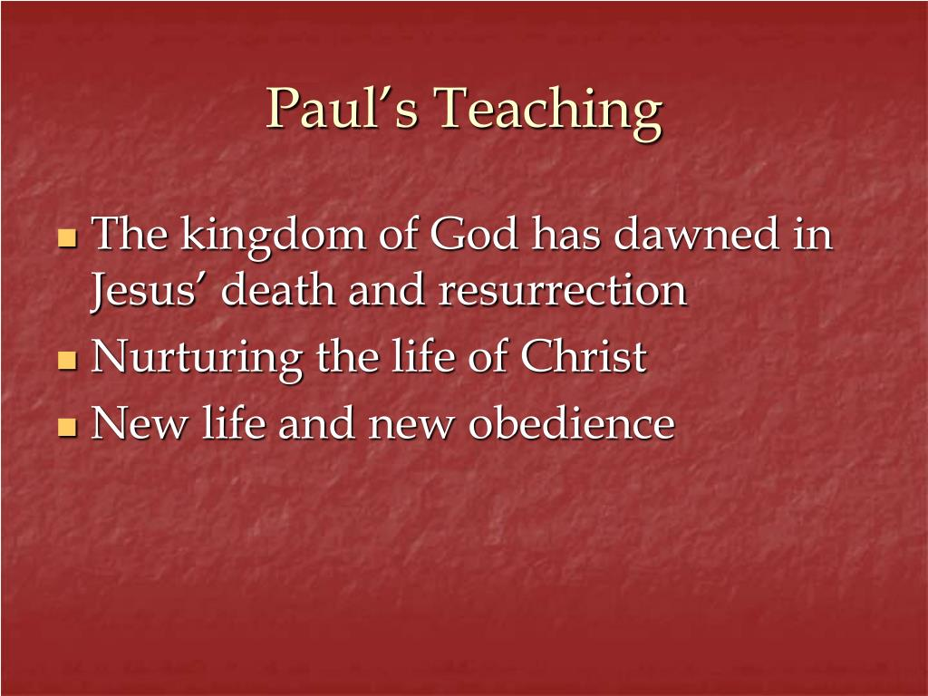 Paul's Teaching