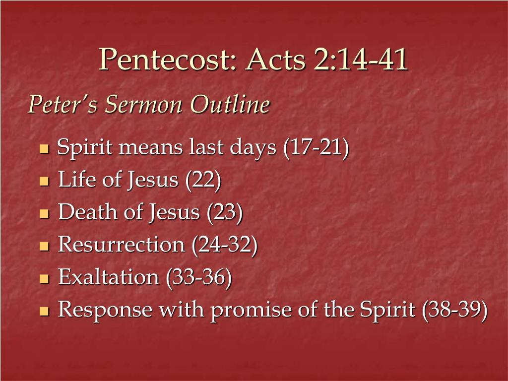 Pentecost: Acts 2:14-41