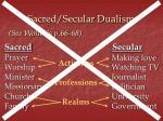 sacred secular dualism