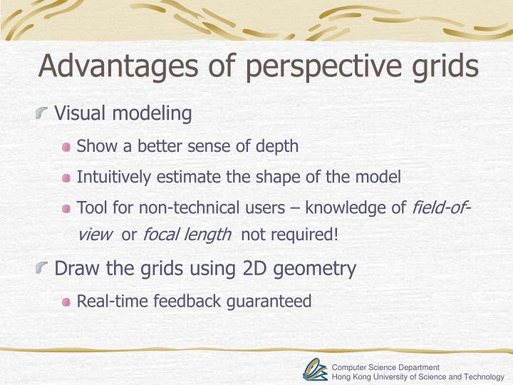 Advantages of perspective grids