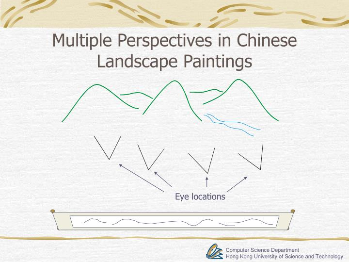 Multiple Perspectives in Chinese Landscape Paintings