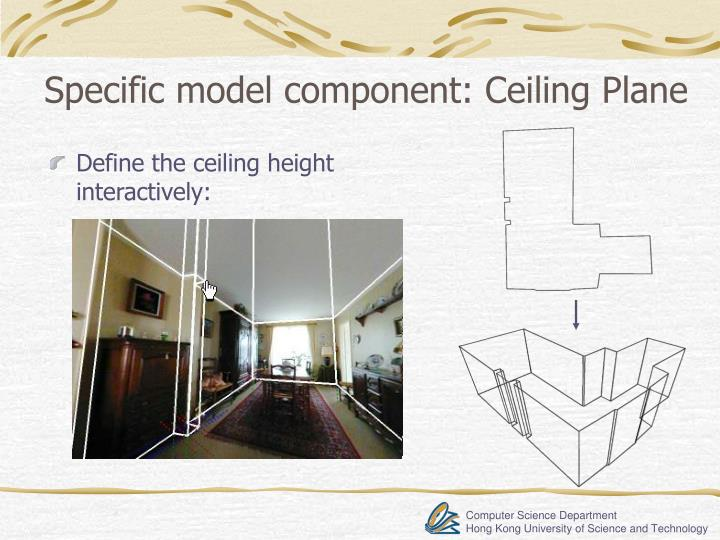 Specific model component: Ceiling Plane