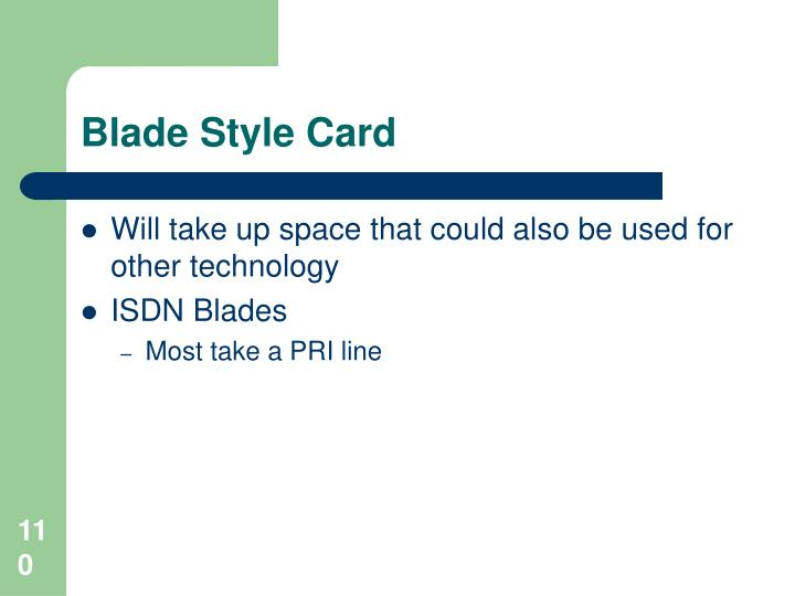 Blade Style Card