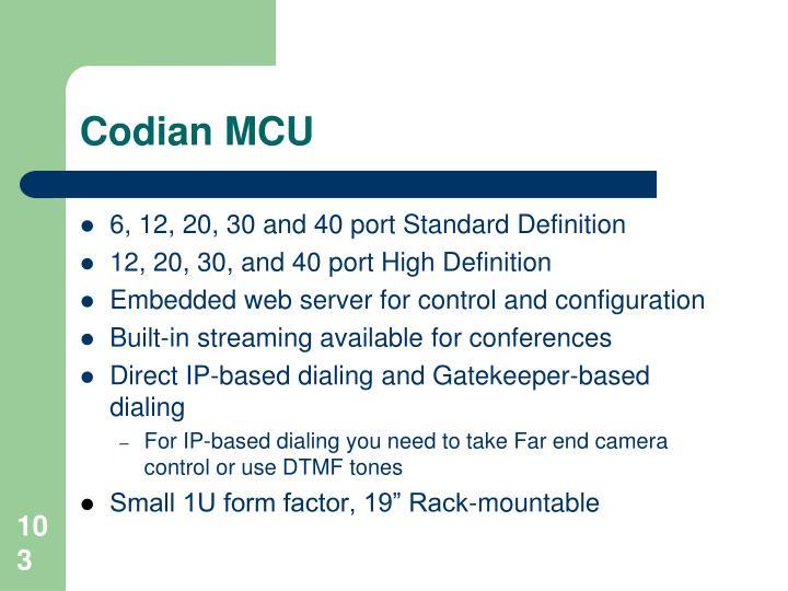 Codian MCU