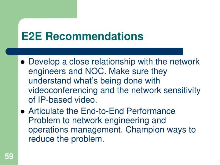 E2E Recommendations