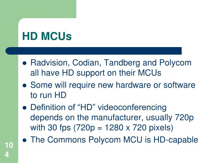 HD MCUs