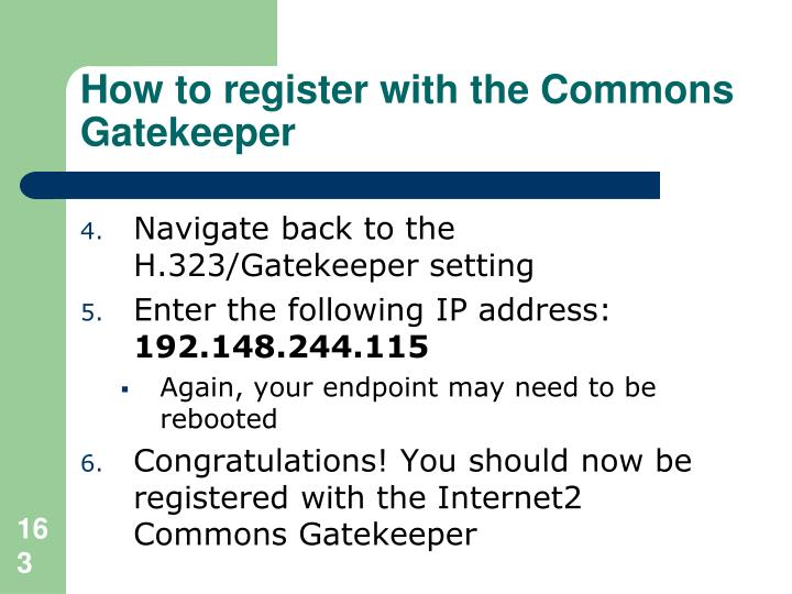 How to register with the Commons Gatekeeper