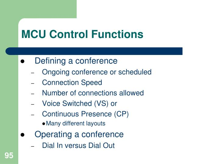 MCU Control Functions