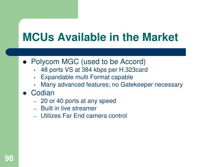 MCUs Available in the Market