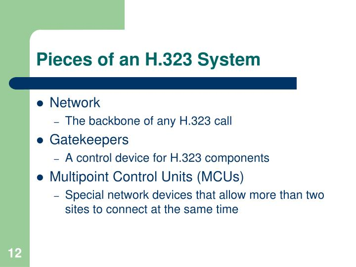Pieces of an H.323 System