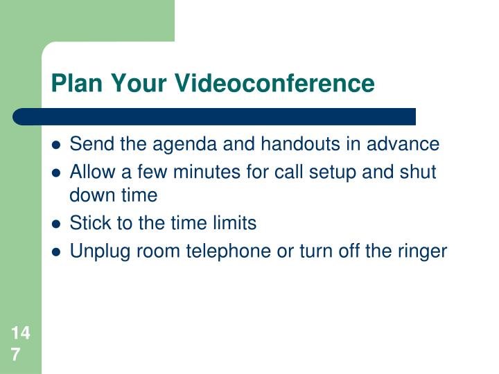Plan Your Videoconference