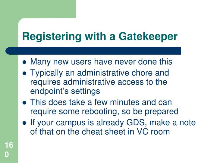 Registering with a Gatekeeper