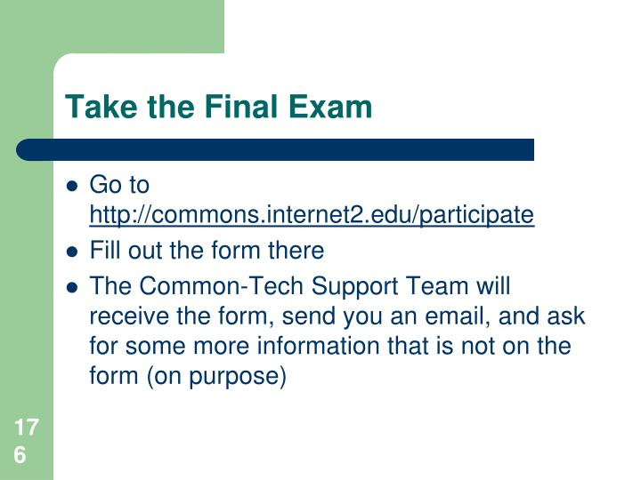 Take the Final Exam