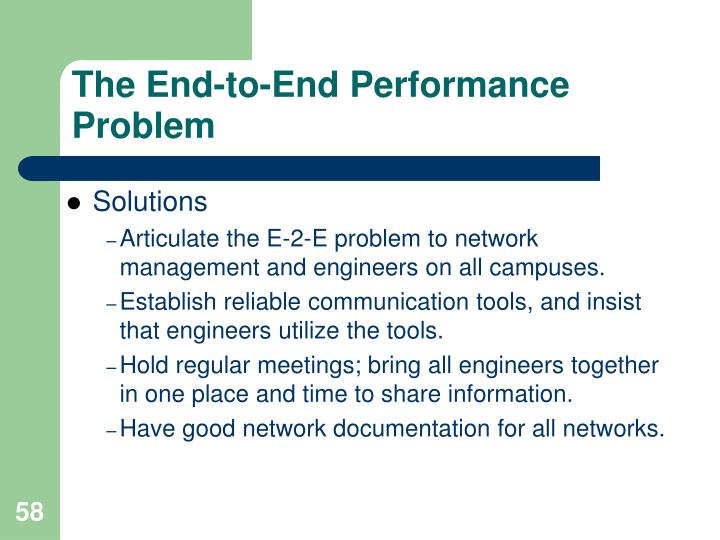 The End-to-End Performance Problem
