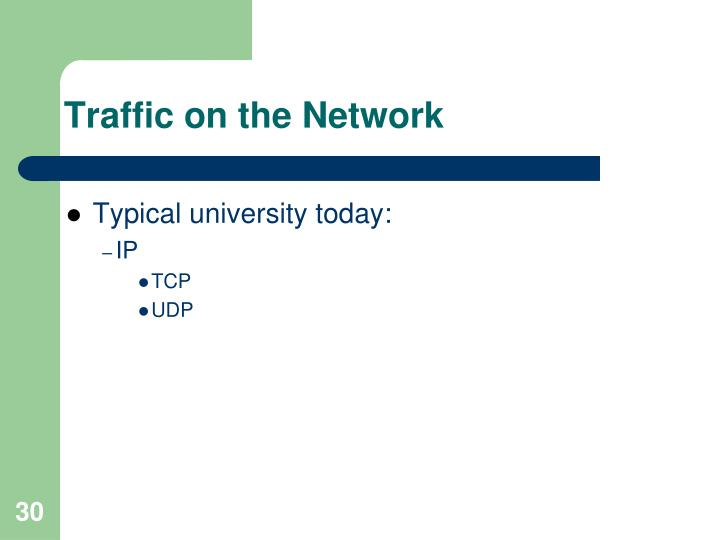 Traffic on the Network