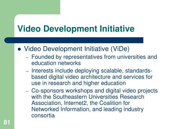 Video Development Initiative