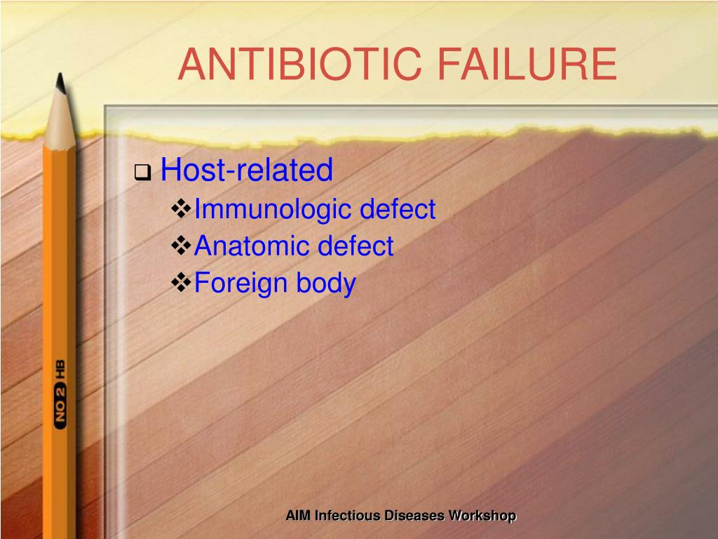ANTIBIOTIC FAILURE