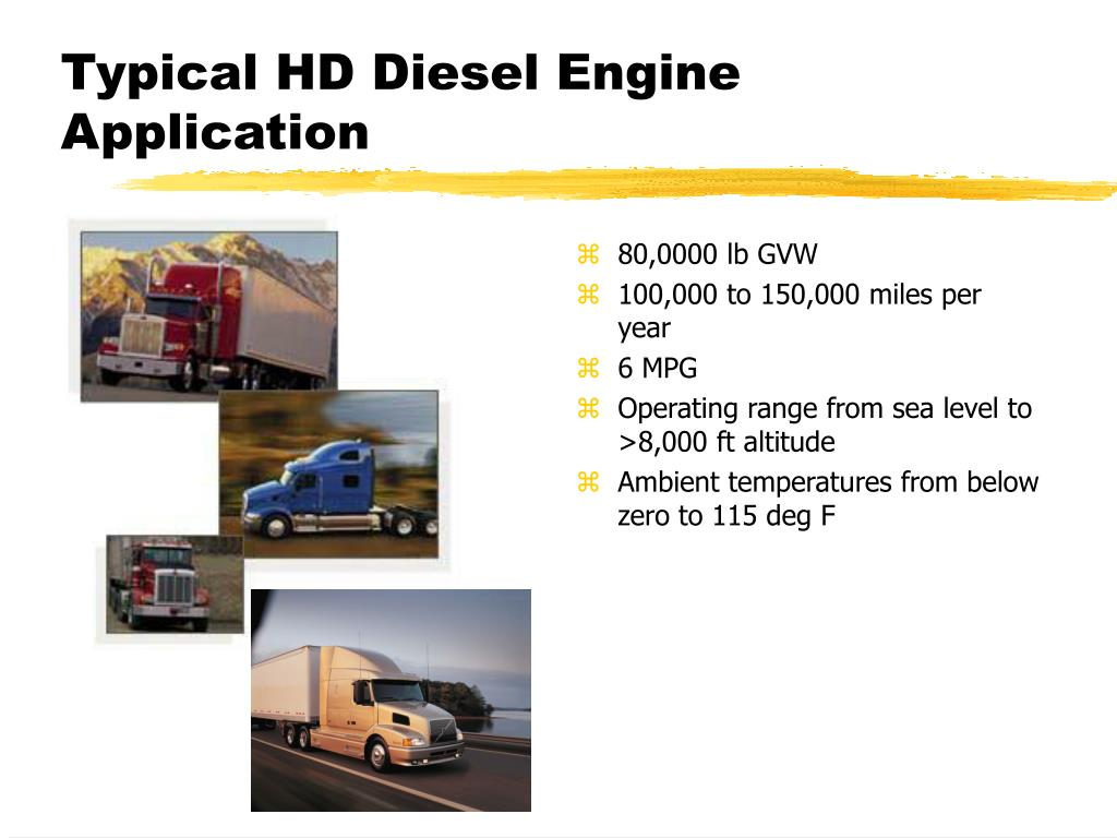 Typical HD Diesel Engine Application