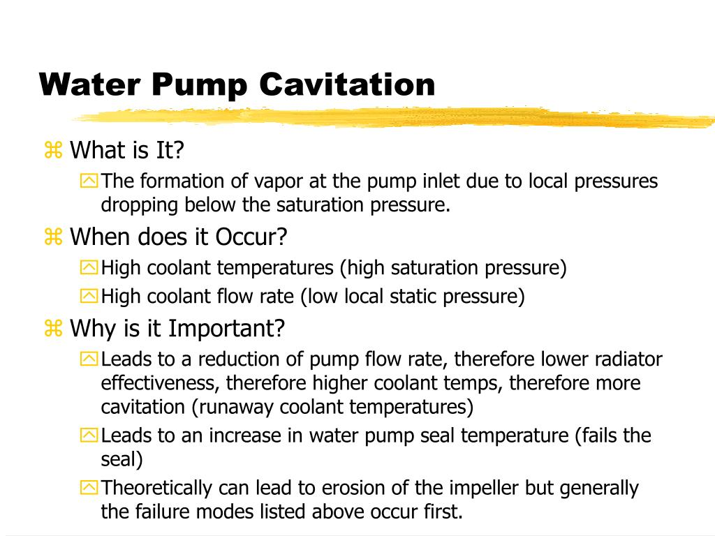 Water Pump Cavitation