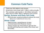 common cold facts