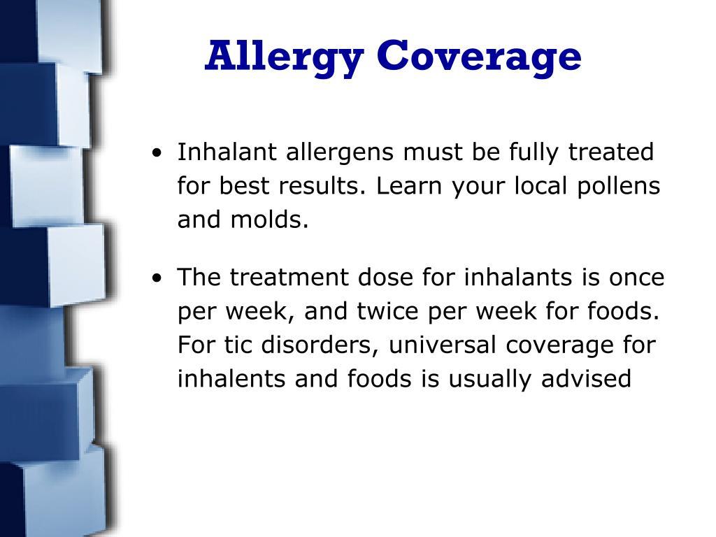 Allergy Coverage