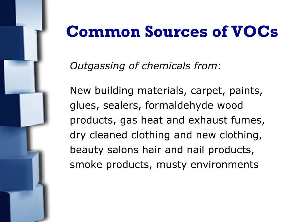 Common Sources of VOCs