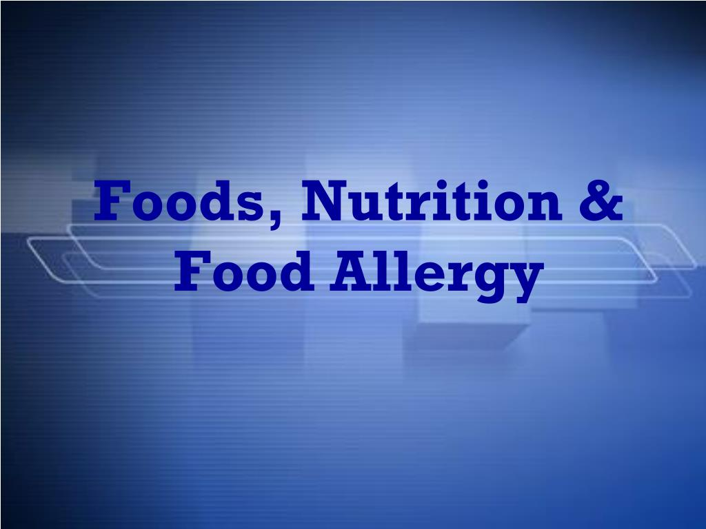 Foods, Nutrition &