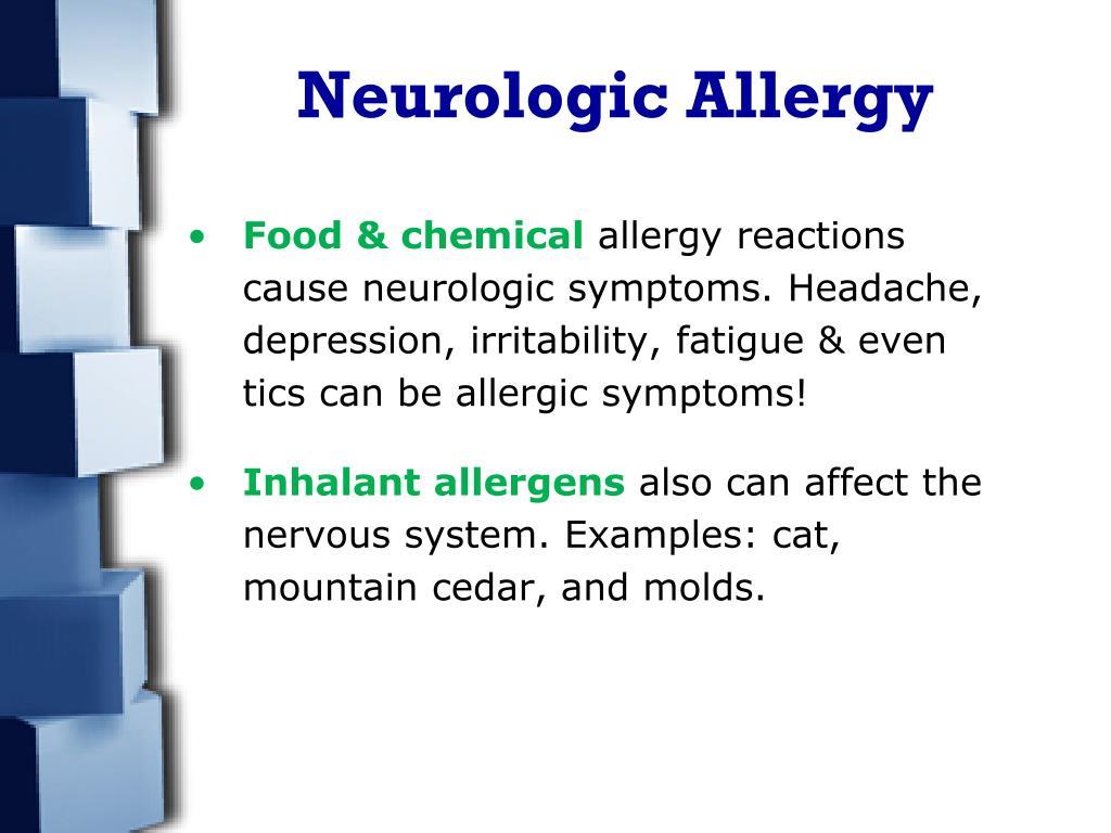 Neurologic Allergy