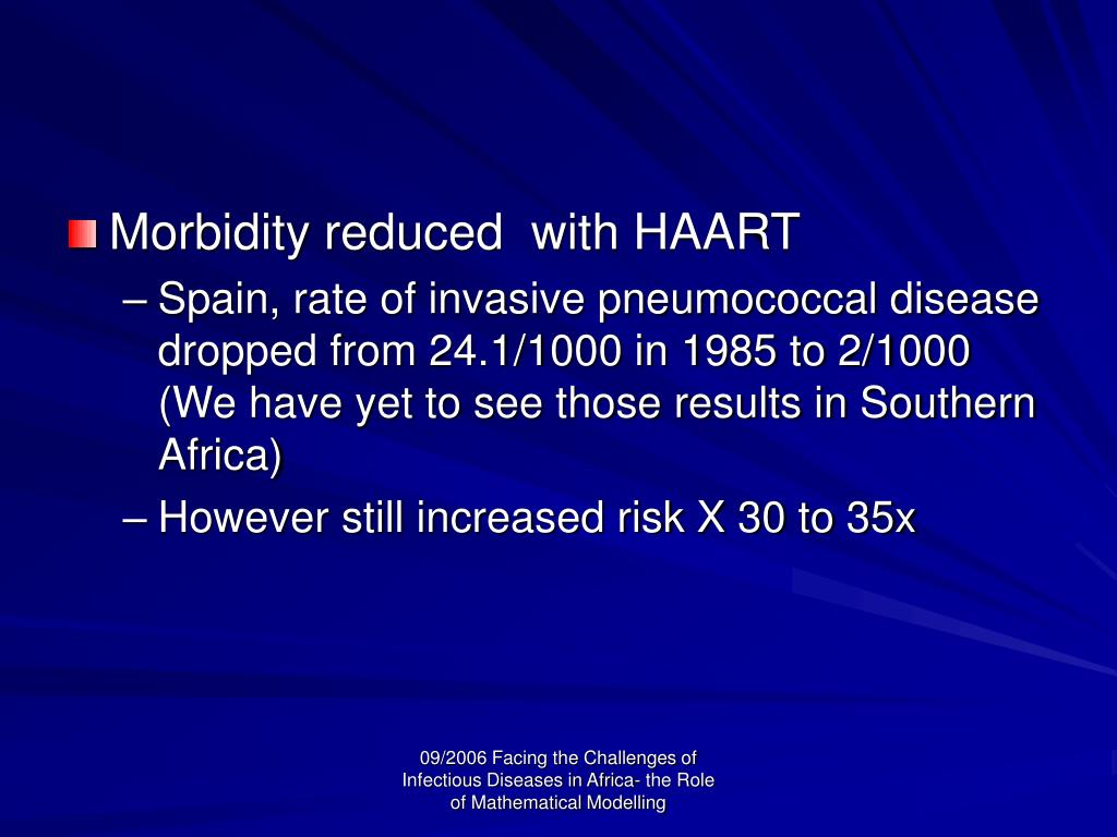 Morbidity reduced  with HAART
