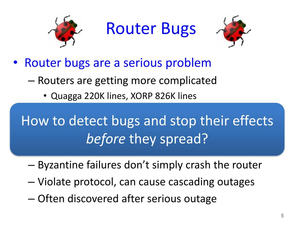 Router Bugs