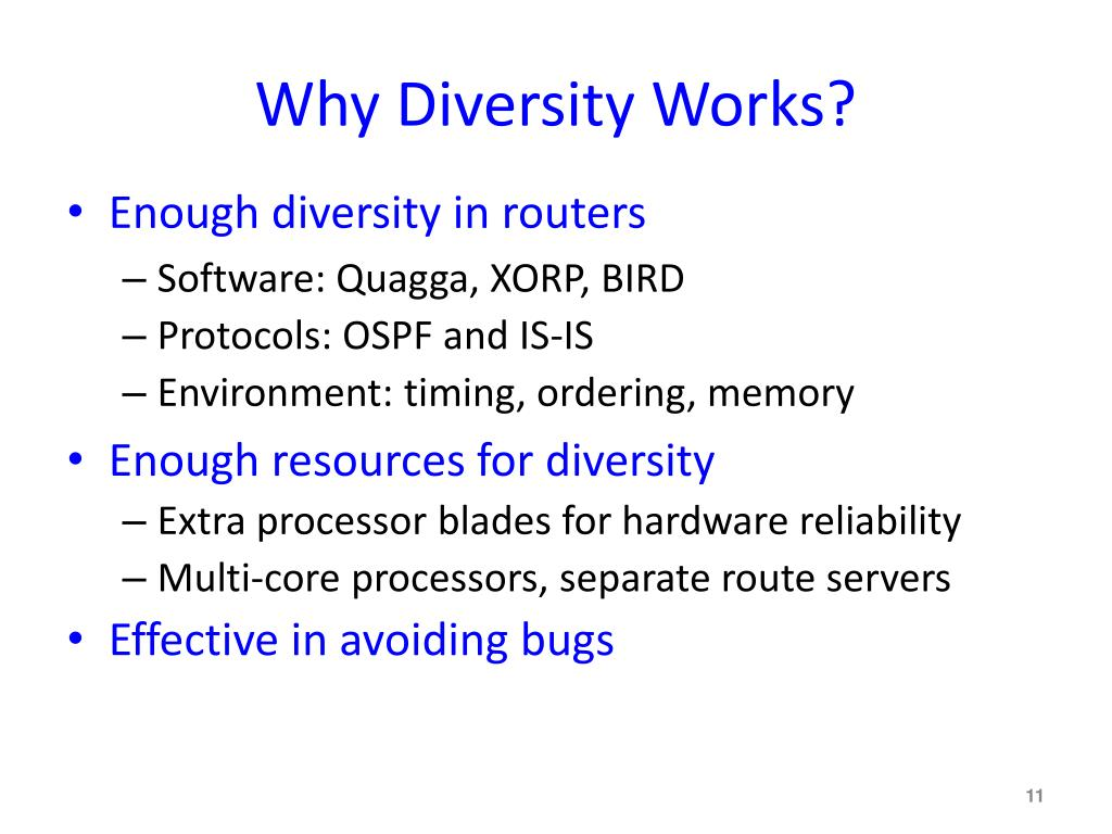 Why Diversity Works?
