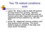 two tb related conditions exist