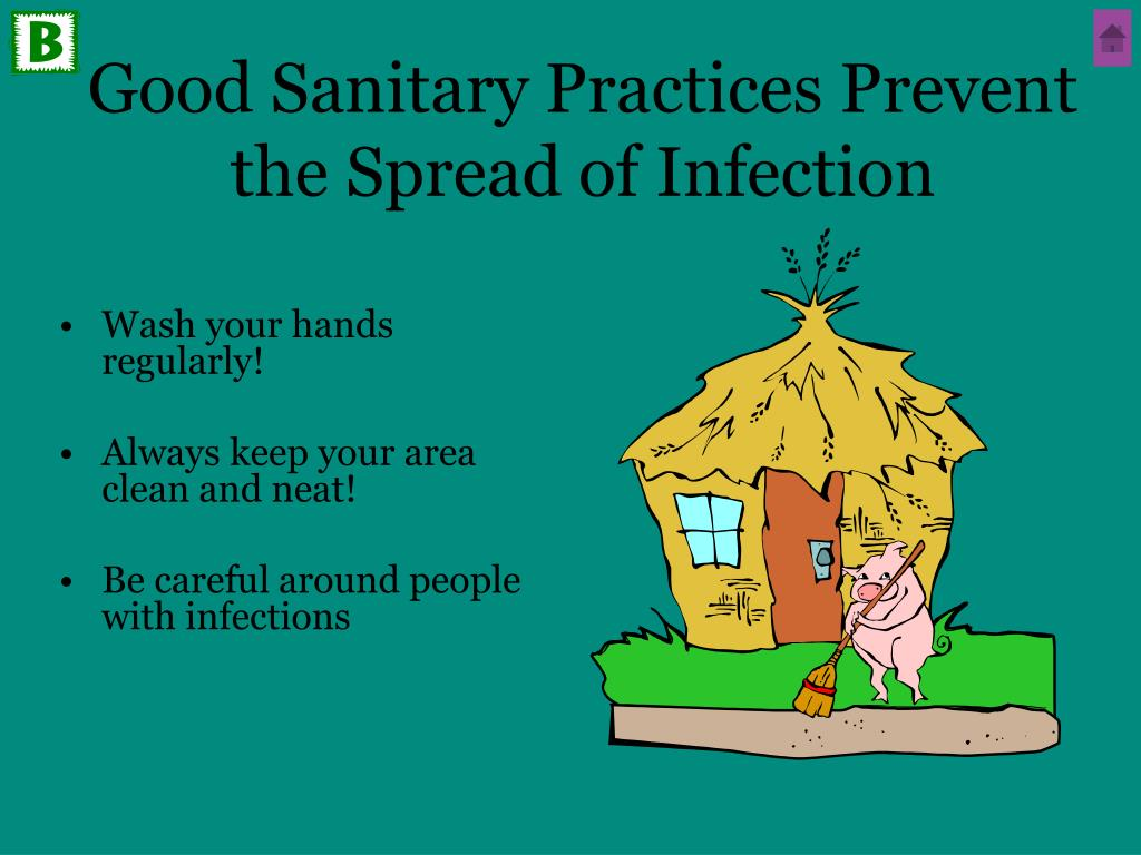 Good Sanitary Practices Prevent the Spread of Infection