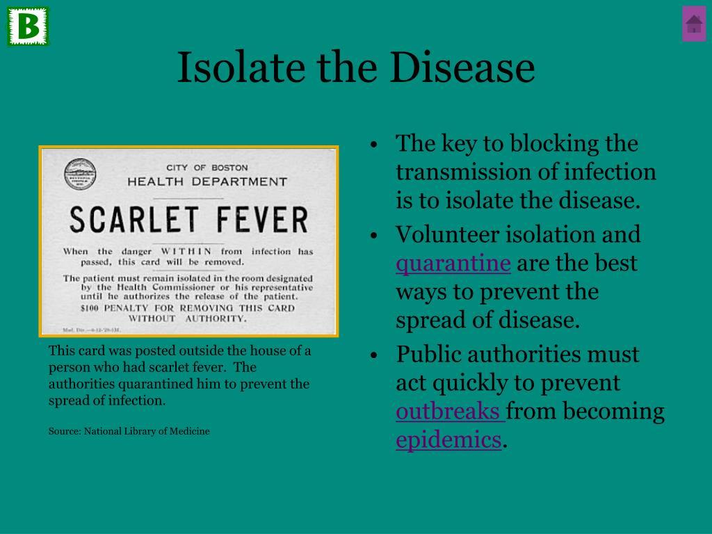 Isolate the Disease