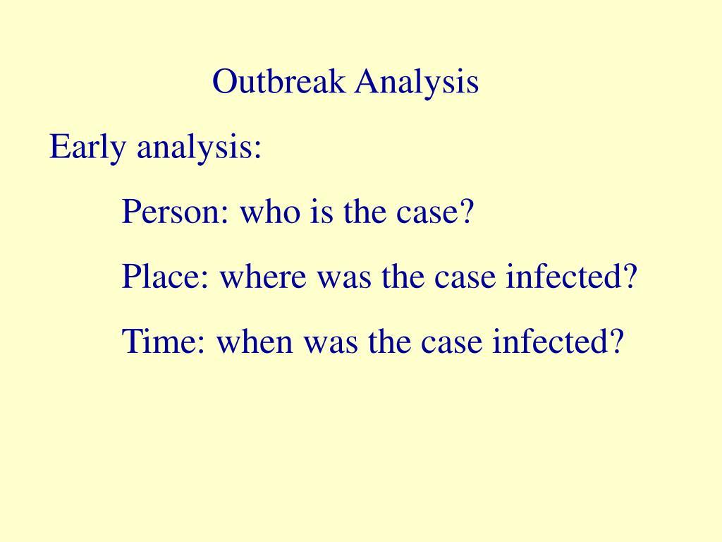 Outbreak Analysis
