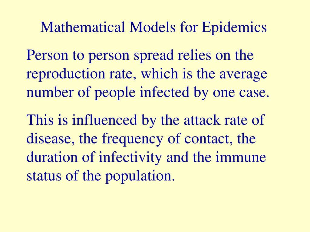 Mathematical Models for Epidemics